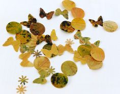 Leaf confetti: dried leaf shapes