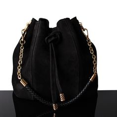 5edff4e754 Black Bucket suede bag, Black bucket bag, Luxury Bags, bucket suede, women  suede bag, luxury handbag, Black bucket bag, black. Sac Seau NoirSacs À Main  ...