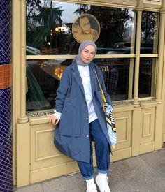 Hijab Casual, Casual Dress Outfits, Hijab Chic, Hijab Outfit, Mode Outfits, Fashion Outfits, Modern Hijab Fashion, Street Hijab Fashion, Hijab Fashion Inspiration