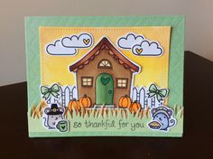 Lawn Fawn - Thankful Mice, Happy Harvest, Holiday Party Animal, So Thankful, Baaah Humbug, Sweet Christmas, Critters On The Farm, Love 'n Breakfast, Starry Backdrops, Grassy Border, Stitched Rectangle Stackables _ super fun scene by Ashley via Flickr