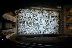 Stage curtain for the Oslo Opera House, 2011, Pae White