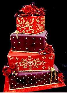 Love this colors on this wedding cake. Great cake for a birthday to.