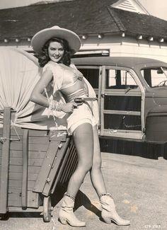 Cowgirl Dorothy Malone  via http://le-piu-belle.tumblr.com/post/28455330258/hollyhocksandtulips-cowgirl-dorothy-malone#