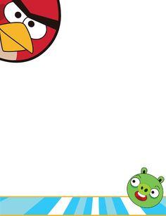 Bordes Decorativos: Bordes decorativos de Angry Birds para imprimir Cumpleaños Angry Birds, Festa Angry Birds, School Posters, Yoshi, Back To School, Symbols, Letters, Paper, Birthday