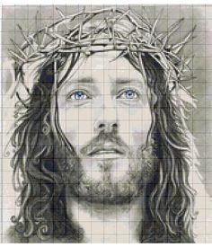 Cross Stitch Designs, Cross Stitch Patterns, Jesus Crown, Fillet Crochet, Jesus Face, Crown Of Thorns, Simple Life Hacks, C2c, Cross Stitching