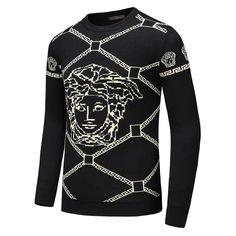 Pullover Designer Sweaters – Boss Styles Co Mens Dress Sweaters, Mens Fashion Sweaters, Men Sweater, Men Fashion, Versace T-shirt, Versus Versace, Lacoste, Louis Vuitton Men Shoes, Versace Sweater