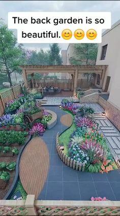Garden Deco, Garden Yard Ideas, Backyard Patio Designs, Terrace Garden, Garden Projects, Kitchen Garden Ideas, Front Yard Ideas, Front Yard Decor, Back Garden Design
