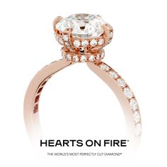 The Desire Diamond Engagement Ring is a true showstopper. From the diamond encrusted band, to the majestic gallery, this engagement ring is perfect for a confident woman who wants her ring to out sparkle all others. #HOF