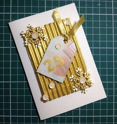 Cartão de Natal em scrapbooking da linha ouro