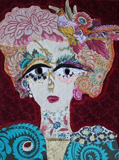la-dame-a-l-oiseau.jpg - Artcraft ©2014 by Katherine Roumanoff -