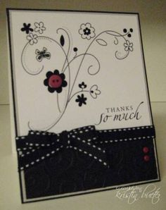 I needed a quick thank you card for my co-workers who made my birthday such a special celebration today :O)  I used SU! rub ons for the image and a stamp for the sentiment.  Quick and easy...just what I needed!  http://www.kristinscrafts.blogspot.com/. Rub-on.