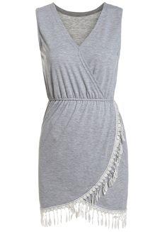 Contrast Lace V Neck Tank Dress 11.67