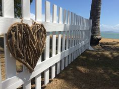 Details make the difference! Picket fence and wooden heart.