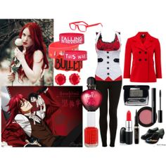 hot topic black butler | fashion look from April 2013 featuring Hobbs jackets, Topshop jeans ...