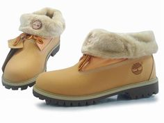2014-2015 New Style Timberland Men Roll Top Boots Yellow and White Wool Store wiki