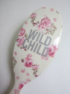 NEW Shabby Chic Style Wild Child Rose Paddle Brush by Forever 21