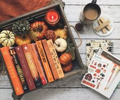 I need to gather some autumnal reading. #books #fall