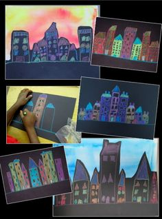 Symmetrical Cityscapes - integrating math and art with bilateral symmetry and geometric shapes.
