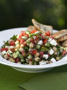 Middle Eastern Vegetable Salad by Ina Garten. Yum!