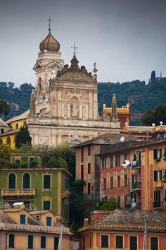 Architecture in Santa Margherita Liguri. Liguria, Italy.