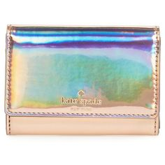 Women's Kate Spade New York Rainer Lane Darla Wallet (5.025 RUB) ❤ liked on Polyvore featuring bags, wallets, rose gold, rose gold bag, green wallet, kate spade, kate spade wallet and rose gold wallet