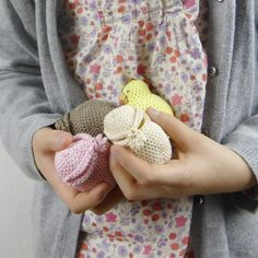 My daughter loves playing with these little eggs all handmade in crochet. And guess what's inside the egg? A lovely alternative to the Easter chocolate eggs - perfect for babies and toddlers