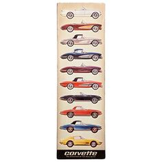 Open Road Brands 90153574 Corvette Stacked Collage Embossed Tin Sign Garage Decor. For product info go to:  https://www.caraccessoriesonlinemarket.com/open-road-brands-90153574-corvette-stacked-collage-embossed-tin-sign-garage-decor/