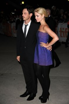 Scoot McNairy and Whitney Able arrive at 'The Town' Premiere held at Roy Thomson Hall during the 35th Toronto International Film Festival on September 11, 2010 in Toronto, Canada. (Photo by Jason Merritt/Getty Images)