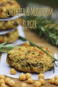 Chickpea & Mushroom Burger (vegan, gluten-free) – Trinity's Conscious Kitchen