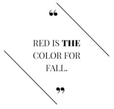 So says Piera Gelardi, who is @Refinery29 creative director! Bring on the #red!