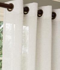 Sheer Linen Grommet Top Curtains