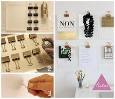 DIY: Decora tu escritorio con unas lindas pinzas clip, ¿te atreves a hacerlas?