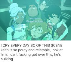 AND IT LOOKS LIKE SHIRO IS LOOKING AT KEITH LIKE HE KNOWS THAT KEITH IS MISSING HIS BAE