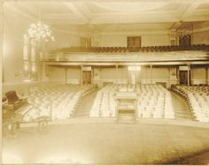 Ewing Hall auditorium interior.  Ewing was demolished in 1974. :: Ohio University Archives