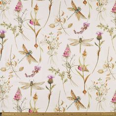 Make a statement with your next curtain creation thanks to this bright colourful Dragonfly Curtain Fabric. Silk Curtains, Curtains With Blinds, Curtain Fabric, Linen Fabric, Cotton Fabric, First Sewing Projects, Types Of Weaving, Stars Hollow, Fabulous Fabrics