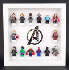 LEGO Superheroes Marvel Avengers Minifigure Display Frame White IMPORTANT! NO MINIFIGURES ARE INCLUDED,LISTING IS FOR THE FRAME ONLY. IMPORTANT! NO MINIFIGURES ARE INCLUDED, LISTING IS FOR THE FRAME ONLY. Precision made stylish box display frame measuring 23 x 23 cm it complete with a