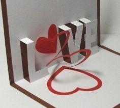 Spiral Love pop up card