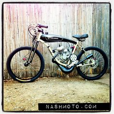 By Nashmoto Motorized Bicycle 66cc 2 Stroke Racing Engine Arrow Cycles