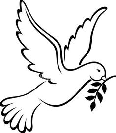 Image detail for -. Dove Template Mosiac Works: Peace Dove Template DLTK: Dove (Bird) Name Dove With Olive Branch, Olive Branches, Dove Images, Art Images, Bing Images, Dove Drawing, White Doves, Peace On Earth, Pyrography