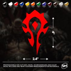 """World of Warcraft Horde Faction Logo 4""""x2.4"""" Vinyl Decal by TheStickermart on Etsy https://www.etsy.com/listing/247368378/world-of-warcraft-horde-faction-logo"""