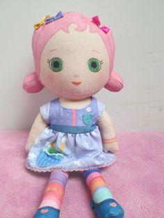 "Mooshka Tots Doll Doll Zapf Creation 9"" pink hair #Dolls"