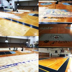 #QueenCreekMiddleSchool is getting their #GymFloorRefinish, a lot of years of finish, paint over paint and logos on top of older logos, stay tuned for the end result, it should look like a new floor!!! #ExcaliburHardwoodFloors #BasketballCourts #ArizonaHardwoodFloors #ArizonaGymFloors #ArizonaSportsFloors #GymFloorRecoat  #CustomLogos #BasketballRefinishing