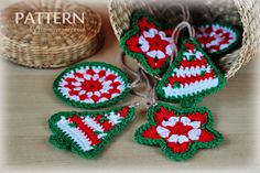 Christmas crochet ornaments pattern