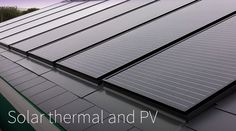 PV-T combined thermal and PV array of matching solar panels