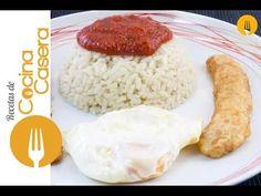 Arroz a la cubana   Recetas de Cocina Casera - Recetas fáciles y sencillas