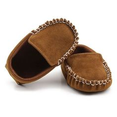 Blue Giraffe Kids Child Unisex Pre-Walker Leather Soft Sole Moccasin Slip-on Shoes