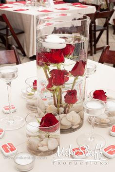 38 Best Red Black And White Centerpieces Images Wedding Decoration