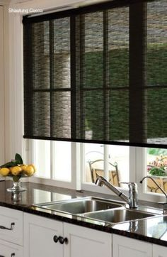 Sublime Tricks: Types Of Blinds For Windows bamboo blinds blackout.Bamboo Blinds Blackout honeycomb blinds for windows.Privacy Blinds For Windows. Kitchen Blinds Modern, Kitchen Window Blinds, Modern Blinds, Kitchen Window Treatments, Bathroom Blinds, Kitchen Windows, Sliding Door Window Treatments, Living Room Blinds, House Blinds