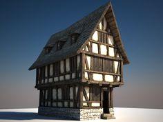 Half-timbered house , Alexander Börner on ArtStation at http://www.artstation.com/artwork/half-timbered-house