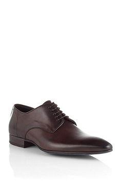 Schnürschuh ´DAIRON` aus Leder, Dunkelbraun Gents Shoes, Men Dress, Dress Shoes, Oxford Shoes, Lace Up, Lifestyle, Boots, Clothes, Fashion